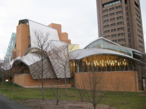 The Frank Gehry-designed Peter B. Lewis Science Library at Princeton University. Photo by Brian Kelley